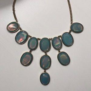 Blue shiny statement necklace
